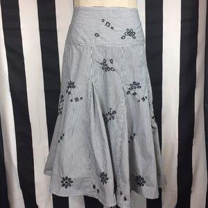 Sunny Leigh Black & white pleated skirt sz 14